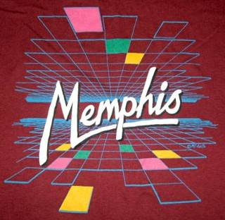 Memphis shirt graphic - computer laser virtual reality grids | by ⓑⓘⓡⓒⓗ from memphis