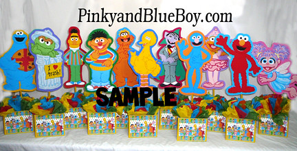 Personalized Sesame Street Birthday Party Decorations Ideas Centerpieces