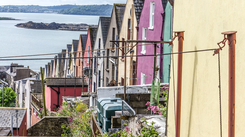 "Cobh - County Cork: A Row Of Houses Known Locally As The ""Deck of Cards"""