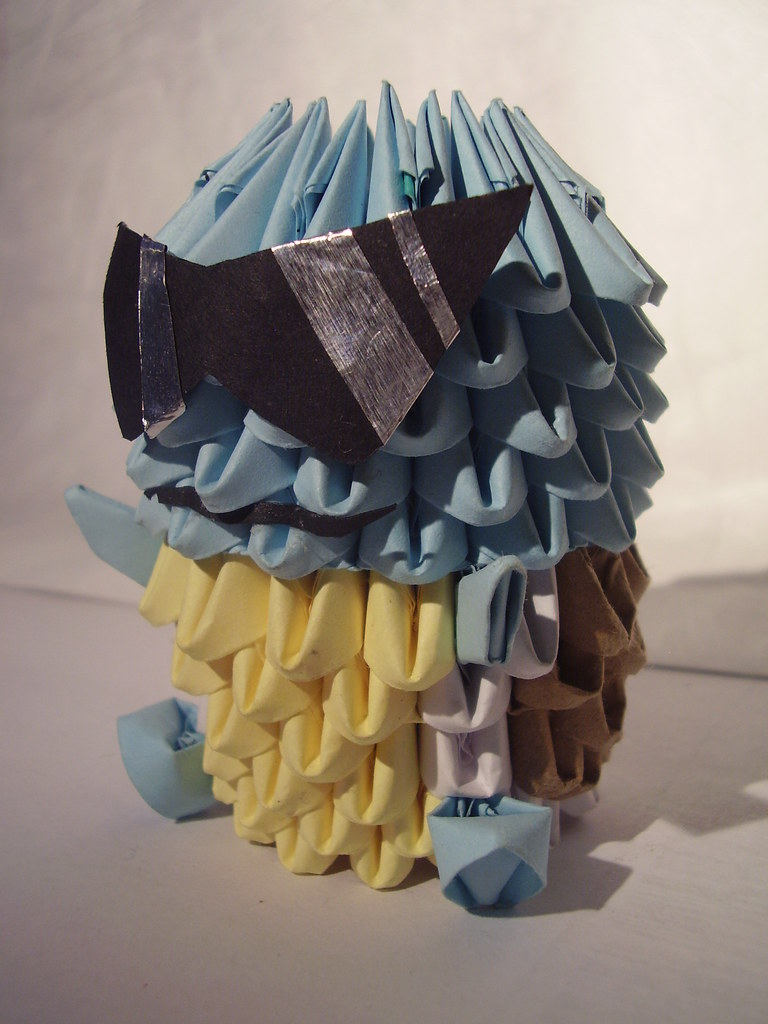 Origami squirtle squad leader squirtle is a boss in his aw flickr origami squirtle squad leader by yumezakura jeuxipadfo Images