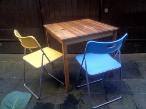tisch und zwei st hle f r die k che markus tacker flickr. Black Bedroom Furniture Sets. Home Design Ideas