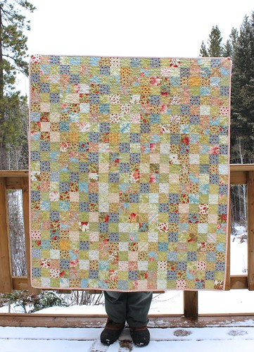 Scattered Flowers Postage Stamp Baby Quilt | by CoraQuilts~Carla