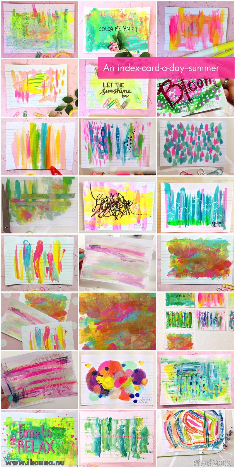 Index Cards June 2016 by @ihanna #icad