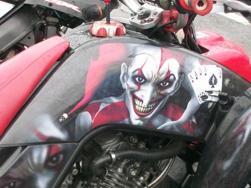 Custom Paint Job On Quad Bike Joe Douglas Flickr