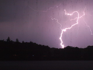 """Lightning is striking again . . . "" 