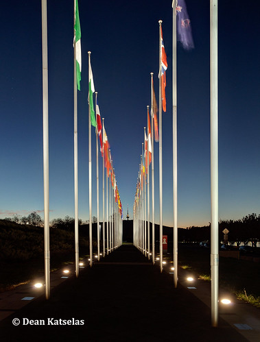 Flags after Sunset | by dkatselas