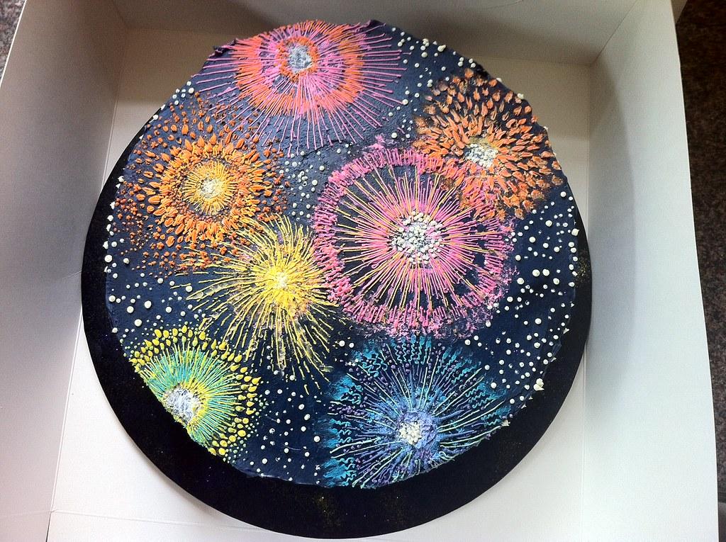 Firework Birthday Cake By Katja Best Regards Katja Katja Seaton