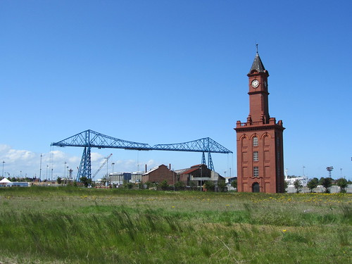 Middlesbrough Transporter Bridge and Clock Tower | by I like