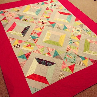 All quilted! On to binding! | by kelbysews