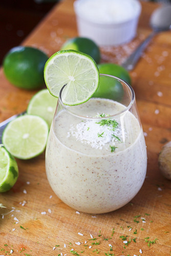 Lime Ginger and Coconut Smoothie-3 | by Sonia! The Healthy Foodie