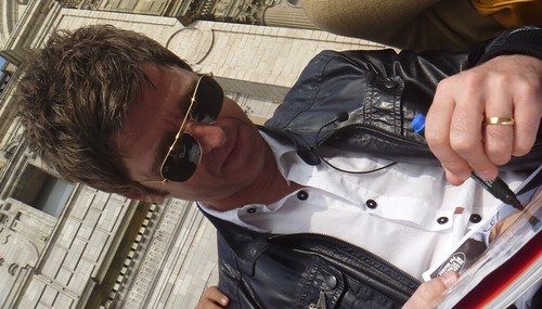 Noel Gallagher outside of the Cathedral of Lima | by kat1039