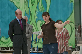 HRH the Duke of Kent tours the Bob and Tamar Manoukian Production Workshop © Simon Fowler/ROH 2012 | by Royal Opera House Covent Garden