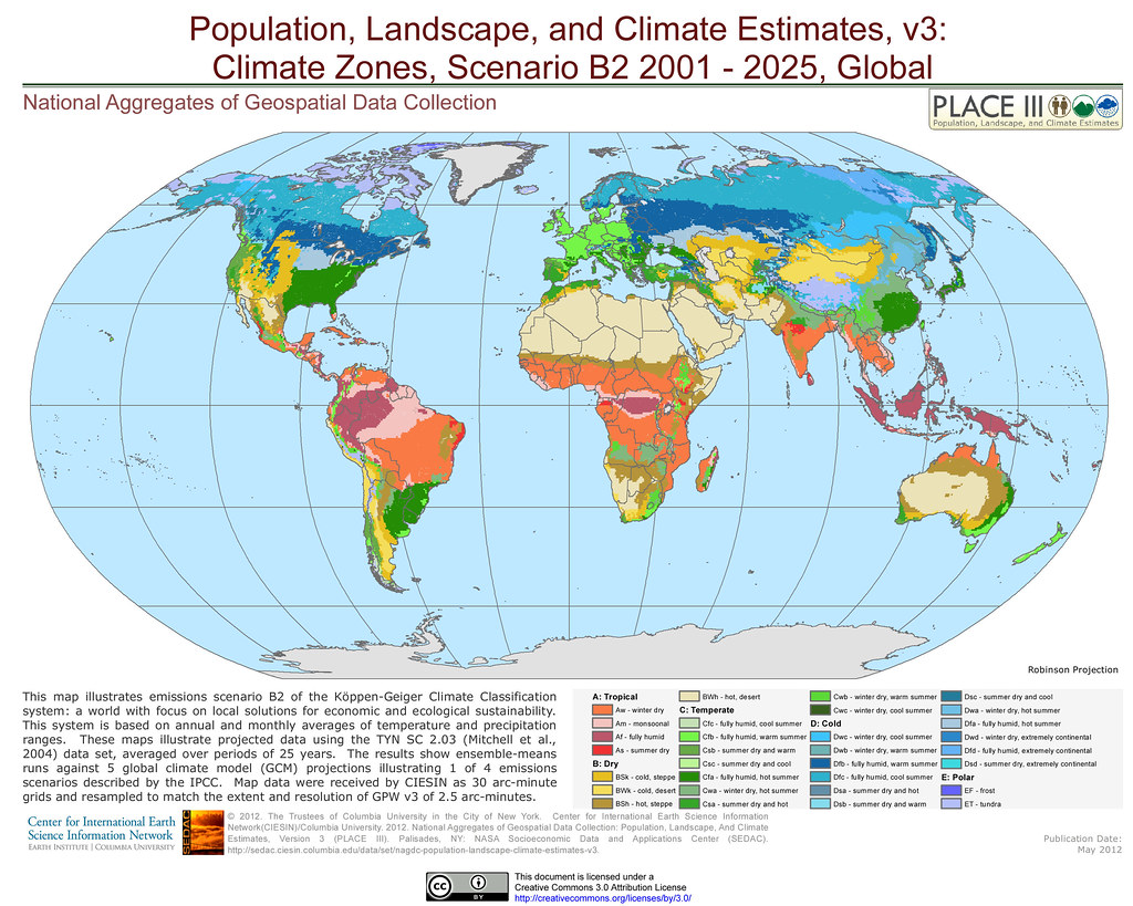 Climate Zones, Scenario B2 2001 - 2025, Global | This map il… | Flickr
