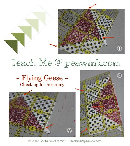 trimming geese | by Jovita's Patchwork Atelier