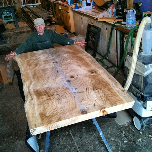 4 Foot Wide Slab Of Cedar Of Lebanon Table Top ONE SINGLE PIECE!