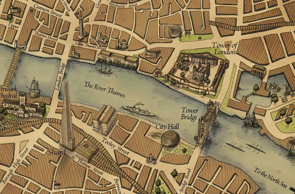 Grand Map of London London Bridge Area – Map of London by Area