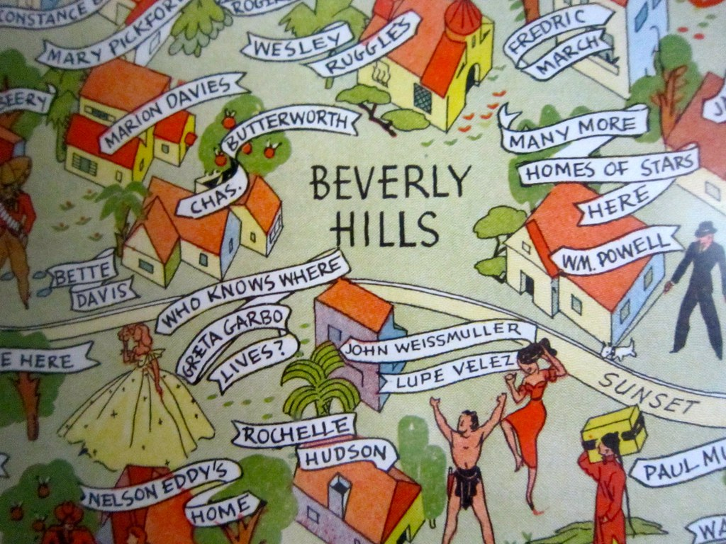 Beverly Hills   Many More Homes of Stars Here | .retroroa… | Flickr