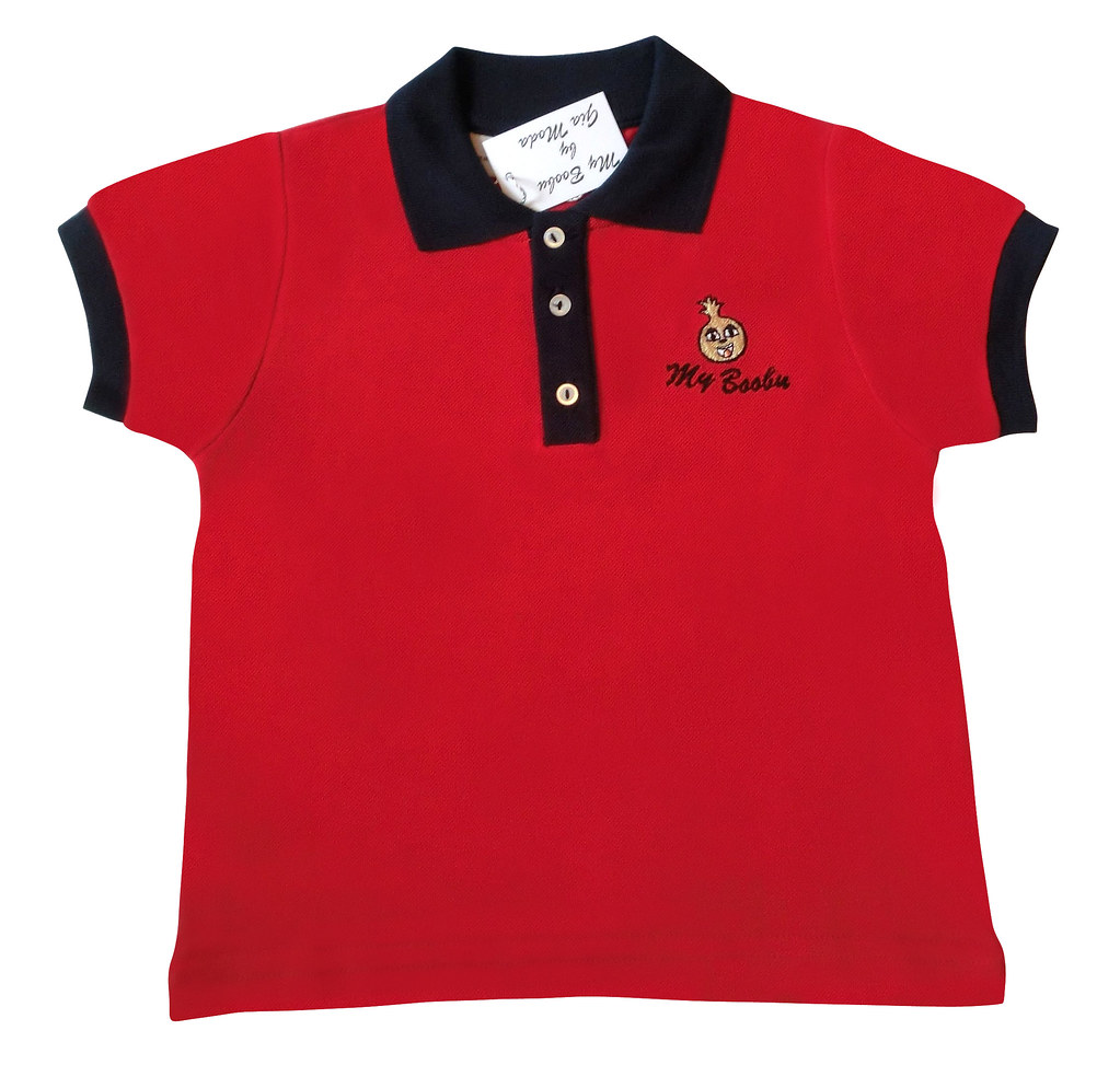Modmb008r Polo With Logo Hand Embroidery 100 Cotton M Flickr