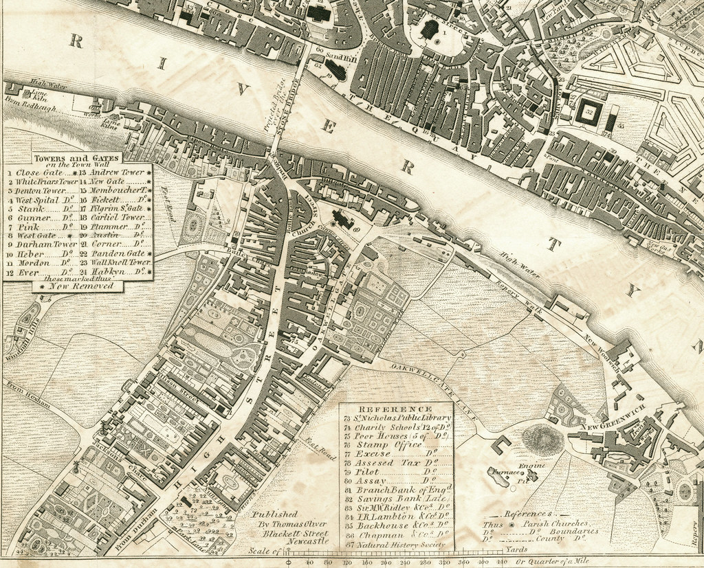 Map of Gateshead and the Tyne Quayside 1833 Gateshead and Flickr