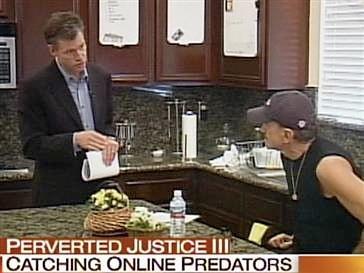 "Chris Hansen catching a pedophile on ""To Catch A Predator ..."
