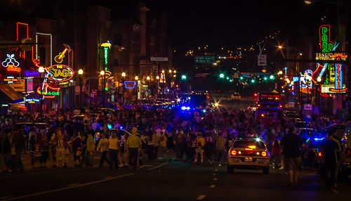 Lower Broadway After The Game | by Tom Frundle