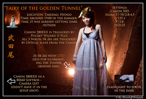 Fairy of the Golden Tunnel - Setup shot | by Ilko Allexandroff / イルコ・光の魔術師