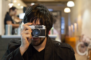 Hipster and his Konica C35V | by voidboi