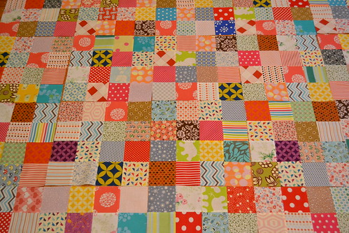 "Scrappy 3 1/2"" quilt top layout 
