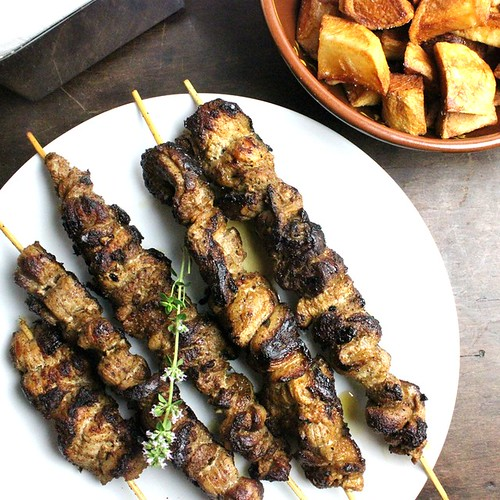 Pincho Moruno with Pork Belly (pork belly kabobs with cumin, paprika, garlic and thyme) | by SeppySills
