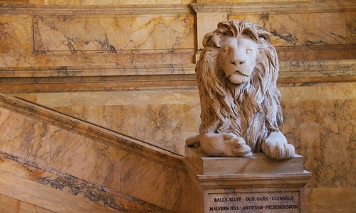 Lion statue, Boston Library | by augustinecollective