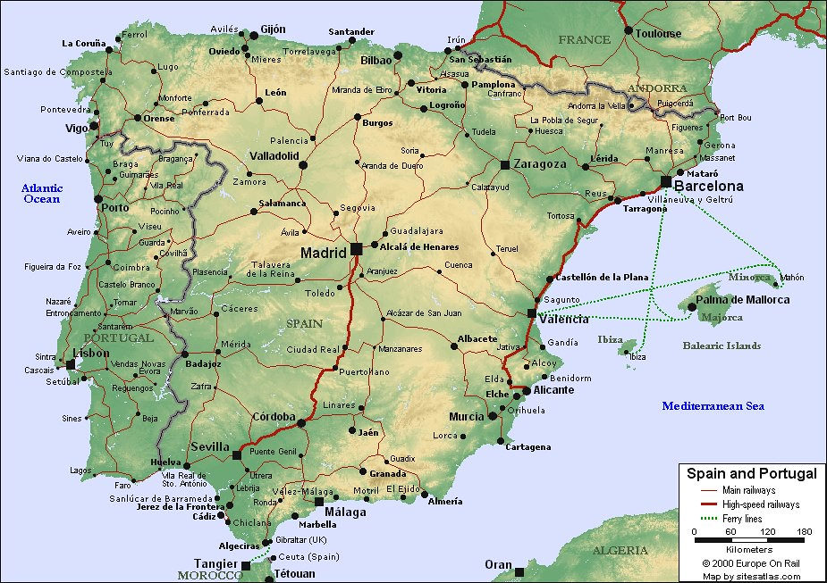 Map Of Spain And Portugal For Use In Locating The Cities O Flickr - Map of spain