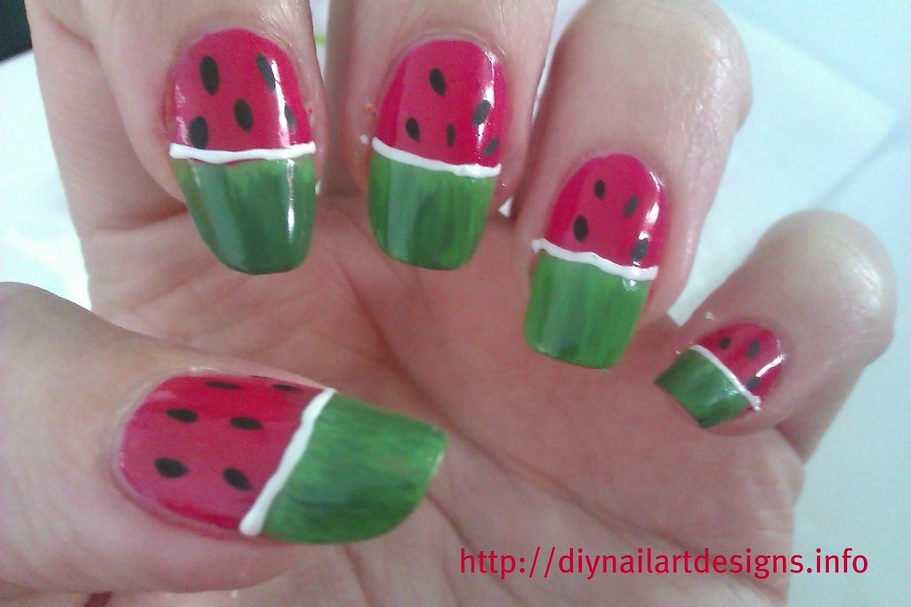 Diy nail art designs quick and simple watermelon nails tu flickr diynailartdesigns diy nail art designs quick and simple watermelon nails tutorial by diynailartdesigns prinsesfo Image collections