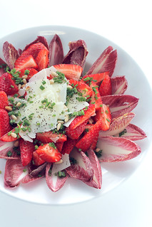 Strawberries, Parmigiano and Chicory | by Salad Pride
