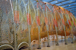 "Ernesto Neto ""Cuddle on the Tightrope"" at the Nasher Sculpture Center, Dallas, TX 