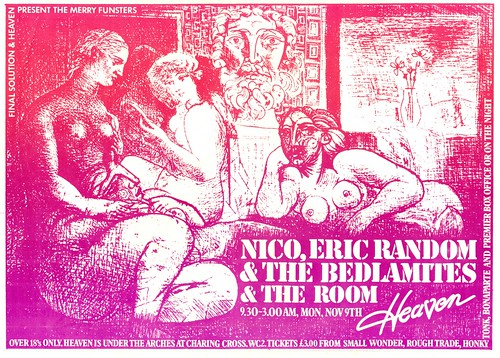 Nico, Eric Random & The Bedlamites, The Room at Heaven Club 1981 | by Superbawestside1980
