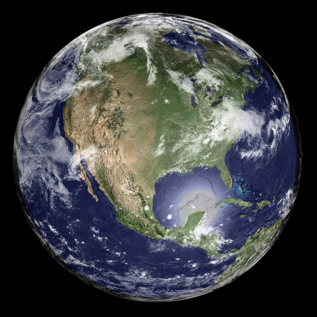 earth global elevation model with satellite imagery flickr