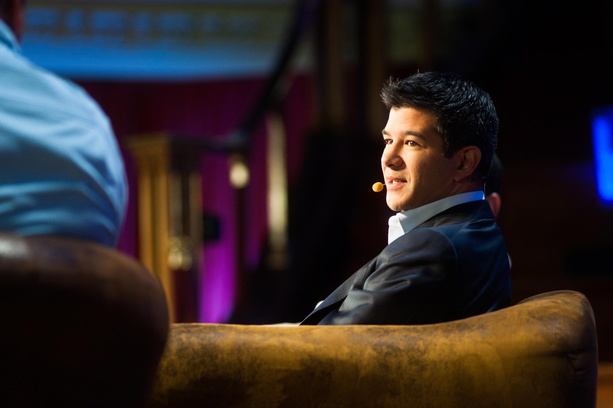 (Uber vs. Hailo) Travis Kalanick, Shervin Pishevar, Adam Valkin, Jay Bregman & Michael Arrington @ LeWeb London 2012 Central Hall Westminster-0200