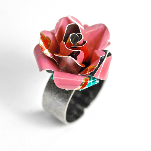 Recycled Jewelry Rose Ring | by wearwolf