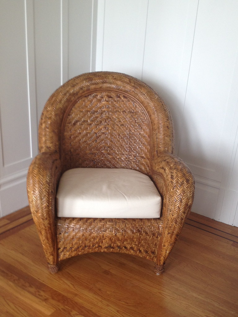Exceptional By Sanfranciscoestatesale Pottery Barn Malabar Chair With Ottoman $125. |  By Sanfranciscoestatesale