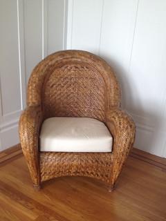 Pottery Barn Malabar Chair With Ottoman 125