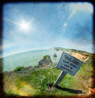 Take Care. Cliff Edges Can Be Dangerous (especially when viewed through a Fisheye Lens | by s0ulsurfing