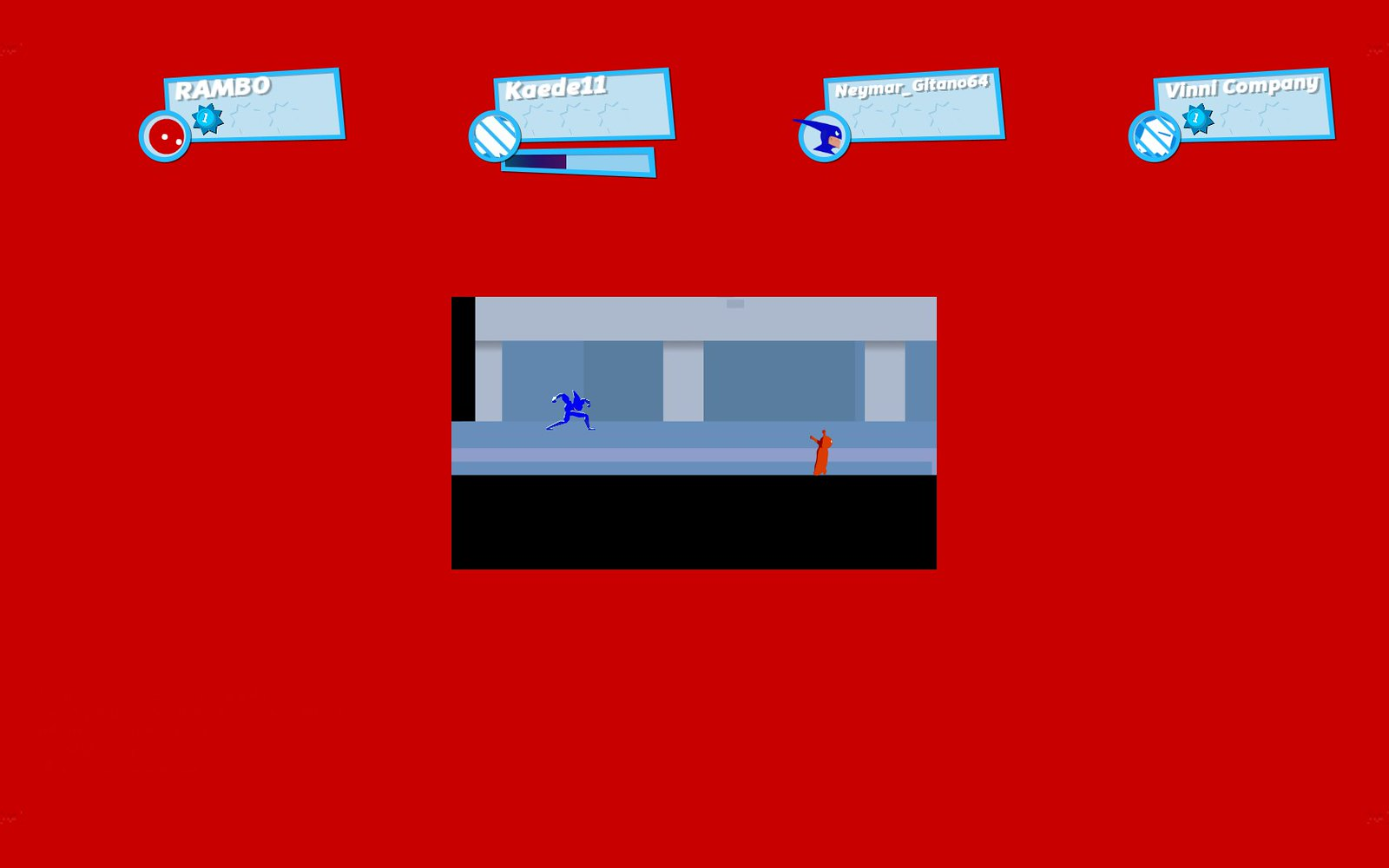 SpeedRunners - pantalla pequeña