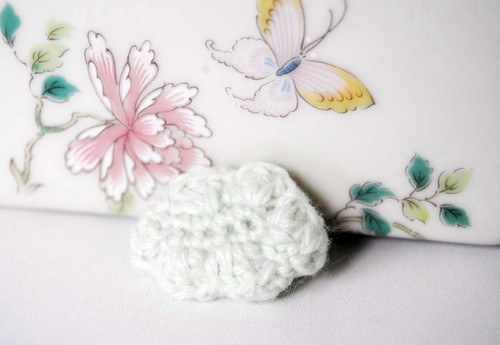 Pastel Green Cloud Brooch | by à voir etc...