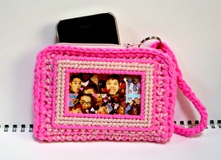 Iphone Cozy cum Card Purse in Bright and Pale Pink Colors | by Melbangel acct #2