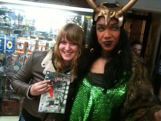 AMY REEDER with the female form of Loki, the God of Mischief! | by Manhattan Comics & More