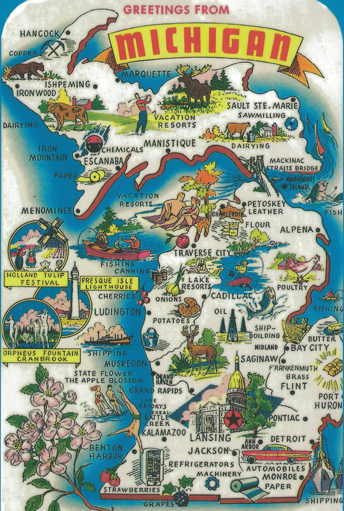 Vintage Michigan History Heritage Travel Tourism Collect Flickr