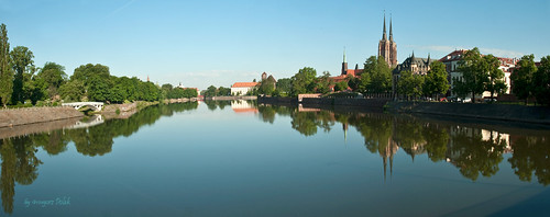 The city of Wroclaw in panorama; one of the places of Euro 2012 | by Grzesiek.