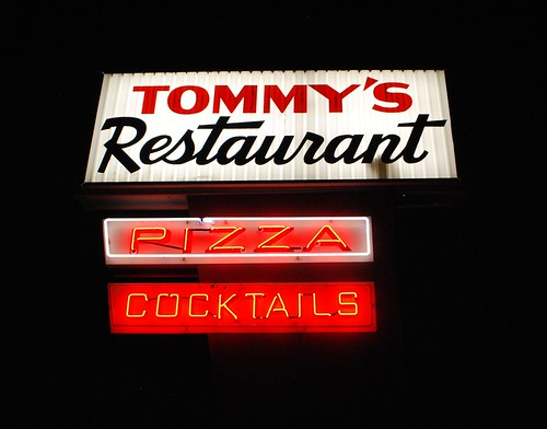 Tommy's Restaurant signs by night, June 2012 | by 63vwdriver