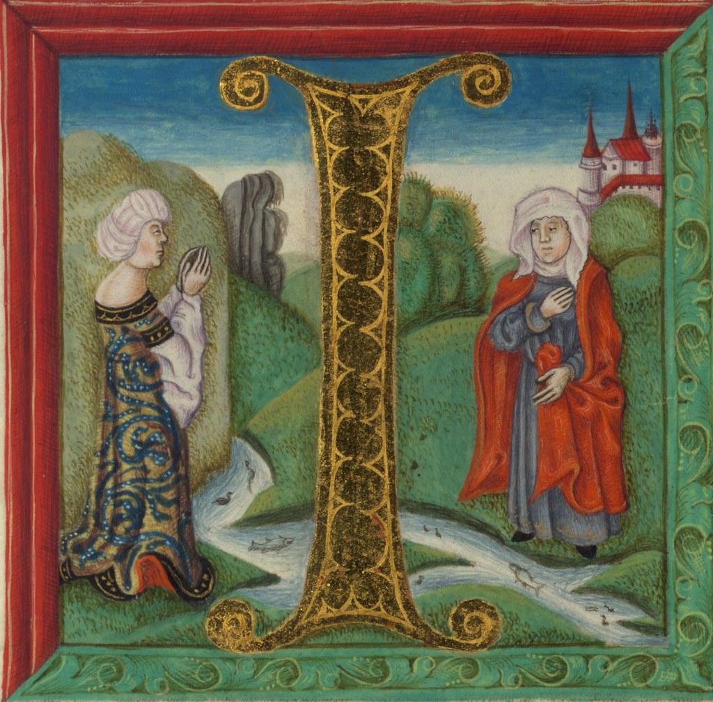 illuminated manuscript bible part naomi and ruth walt u2026 flickr