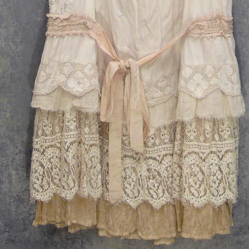 Dress custom redo layered boho ruffles and lace upcycled for Custom dress shirts charlotte nc